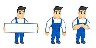 De mascotte van de het werkmens royalty-vrije illustratie