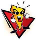 De mascotte van de kaas vector illustratie