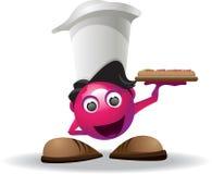 De mascotte van de pizza Stock Afbeelding