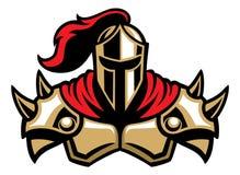 De mascotte van de ridderstrijder Stock Foto's