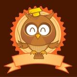 De Mascotte van de uil royalty-vrije illustratie