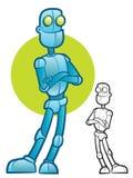 De Mascotte van het robotkarakter Stock Afbeelding