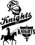 De Mascotte van het Team van de ridder stock illustratie
