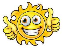 De Mascotte van het zonbeeldverhaal Royalty-vrije Stock Fotografie