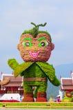 De mascotte van Koninklijke Flora 2011-2012 toont in Chiangmai Stock Foto's