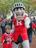 De Mascotte van Rutgers stock foto's