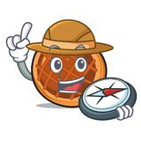 De mascottebeeldverhaal van de ontdekkingsreiziger baket pastei stock illustratie