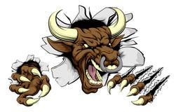 De mascotteconcept van stierensporten Stock Afbeelding