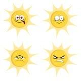 De mascottes van de de zomerzon Stock Fotografie