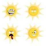 De mascottes van de de zomerzon Stock Afbeeldingen
