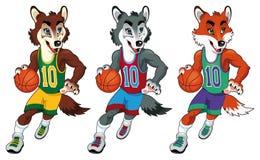 De mascottes van het basketbal. Royalty-vrije Stock Afbeeldingen
