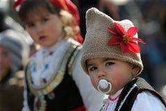 De Maskerade van Bulgarije Kukeri stock afbeeldingen