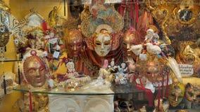 De maskers, het toerisme en het winkelen van Carnaval stock video