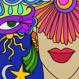 De maskers van Carnaval royalty-vrije illustratie
