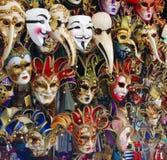 De maskers van Carnaval Stock Foto's