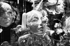 De Maskers van Carnaval op verkoop Stock Foto