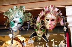 De maskers van Carnaval in Venetië Royalty-vrije Stock Afbeelding