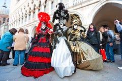 De maskers van Carnaval in Venetië, Italië. Stock Foto's