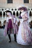 De maskers van Carnaval in Venetië, Italië Royalty-vrije Stock Foto