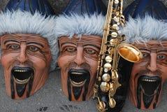 De Maskers van Carnaval in Zwitserland Stock Foto