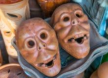De maskers van de kleipot Royalty-vrije Stock Foto