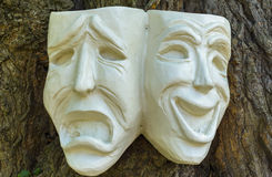 De Maskers van de komedietragedie Royalty-vrije Stock Afbeeldingen