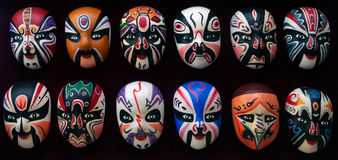 De Maskers van de Opera van Peking Royalty-vrije Stock Afbeeldingen