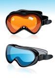 De maskers van de ski Stock Foto's