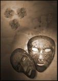 De maskers van de vlinder royalty-vrije illustratie