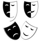 De maskers van het drama en van de komedie Royalty-vrije Stock Foto's