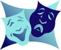 De Maskers van het drama/eps vector illustratie