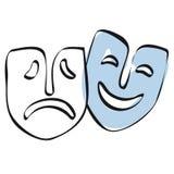 De maskers van het theater vector illustratie
