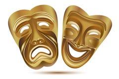 De maskers van het vermaak Stock Afbeeldingen