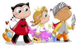 De maskers van kinderen in Halloween Royalty-vrije Stock Fotografie