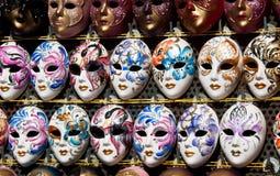 De Maskers van Venetië Stock Afbeeldingen