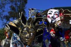 De maskers van Venetië bij tribune Royalty-vrije Stock Fotografie