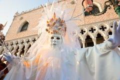 De maskers van Venetië, Carnaval. Royalty-vrije Stock Afbeeldingen