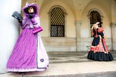 De Maskers van Venetië, Carnaval. Italië. stock afbeeldingen