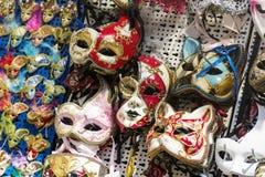 De maskers van Venetië op verkoop Royalty-vrije Stock Fotografie