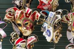 De maskers van Venetië op verkoop royalty-vrije stock foto
