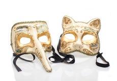 De Maskers van Venetië Carnaval Royalty-vrije Stock Afbeelding
