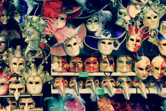 De maskers van Venezian Royalty-vrije Stock Fotografie
