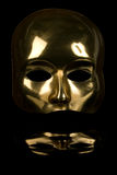 de masque d'or de visage demi Photo libre de droits