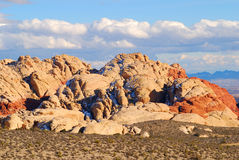 De massa van de rots bij de Rode Canion van de Rots Stock Foto's