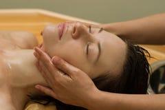 De massage van Ayurvedic stock foto