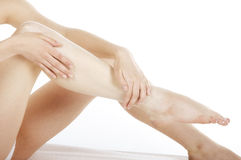 De massage van benen Stock Foto's