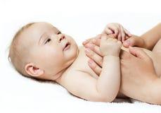 De massage van de baby Royalty-vrije Stock Afbeeldingen