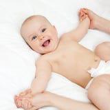 De massage van de baby Stock Afbeeldingen