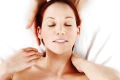 De Massage van de hals royalty-vrije stock afbeeldingen