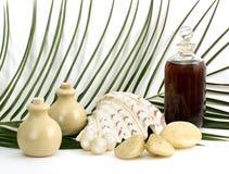 De massage van de olie en aromatherapy Stock Foto's